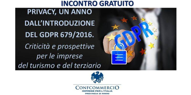 Immagine Privacy: un anno dall'introduzione del GDPR 679/2016 – Incotro gratuito a Rimini