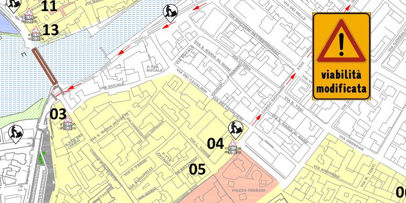 Rimini – dal 20 ottobre nuovo assetto per la circolazione urbana lungo via Bastioni Settentrionali e via Circonvallazione Occidentale