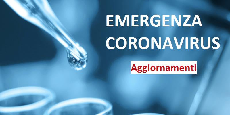 Immagine Coronavirus: AGGIORNAMENTI