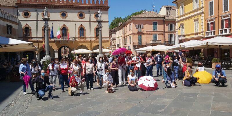 Le Confguide romagnole in piazza a Ravenna accolte dall'assessore Costantini